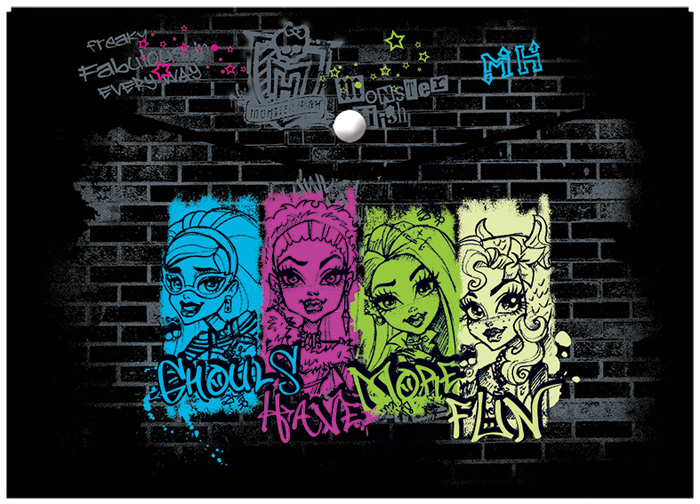 Mattel Папка-конверт на кнопке Monster High формат А5+ 4253396 mattel mattel кукла ever after high мишель мермейд
