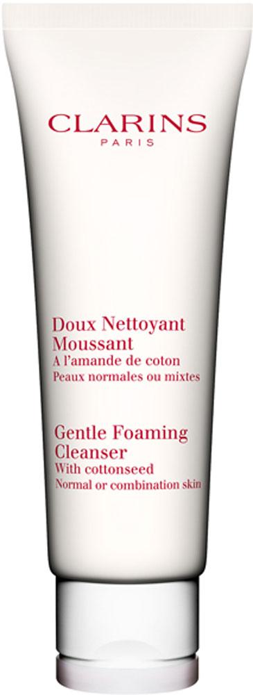 Clarins Очищающий пенящийся крем с экстрактом хлопка для нормальной или комбинированной кожи Doux Nettoyant Moussant, 125 мл80035082Этот нежный, как молочко и эффективный, как мыло крем тщательно, но бережно очищает кожу, легко смывается водой и нейтрализует действие содержащихся в ней известковых примесей, вызывающих сухость кожи. А входящий в состав формулы экстракт хлопка смягчает и увлажняет кожу.