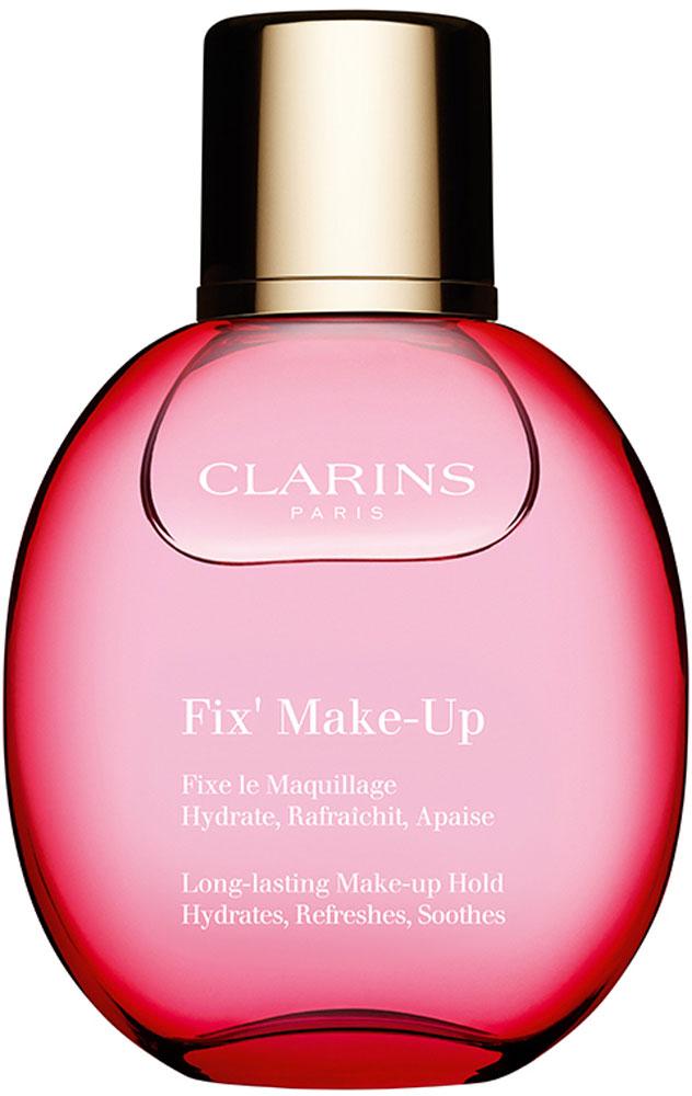 Clarins Фиксатор для макияжа Fix' Make-Up, 50 мл80008331Легкий освежающий спрей обеспечивает безупречную стойкость макияжа в течение всего дня. Благодаря экстракту алоэ и аллантоину он увлажняет и моментально успокаивает кожу. А экстракт грейпфрута и органическая розовая вода дарят приятный свежий аромат.