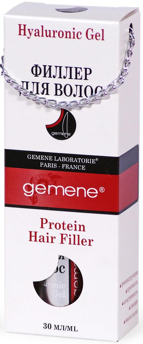 Gemene Филлер для волос, 30 мл4751028207679Собранный в единый препарат комплекс протеинов содержит мельчайшие фрагменты аминокислот, способные глубоко проникать и естественным образом встраиваться в конструкцию волос. Часть белковых структур находит себе место на поверхности волос, создавая подвижный и дышащий слой с отличными способностями удерживать влагу. Увлажненные волосы с усиленной структурой приобретают большую толщину и массу. Ставшая более гладкой и однородной, внешняя оболочка волос облегчает расчесывание и укладку, придает здоровый блеск.