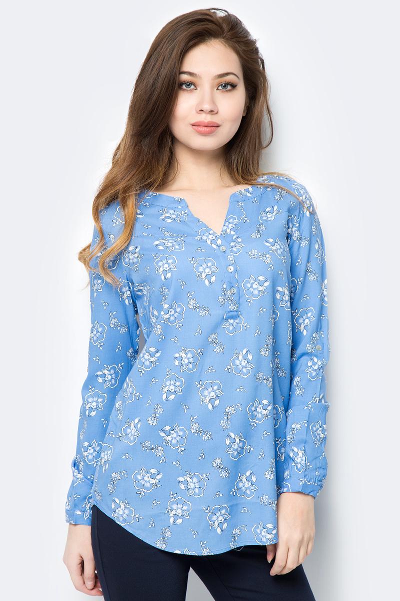 Блузка женская Sela, цвет: голубой. B-112/800-8152. Размер 50B-112/800-8152