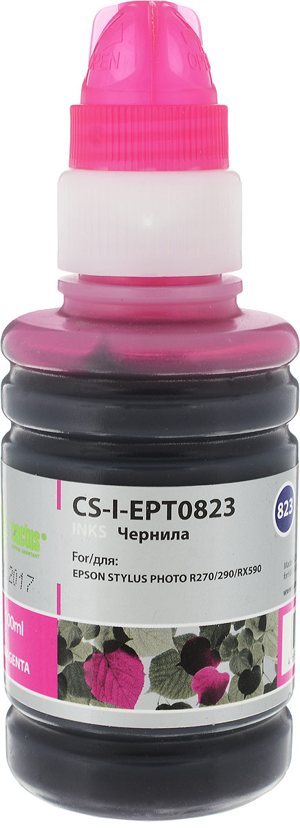 Cactus CS-I-EPT0823, Magenta чернила для Epson Stylus Photo R270/290/RX590