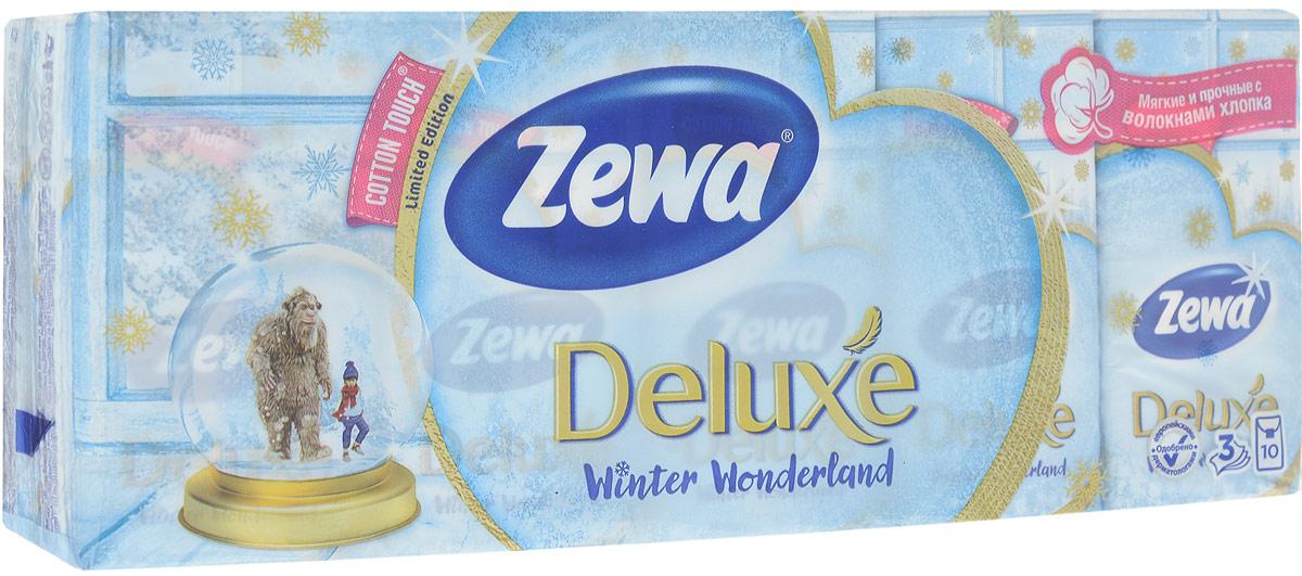 Носовые платки Zewa Deluxe, 10 х 10 шт51174Бумажные платочки Zewa COTTON TOUCH® произведены сдобавлением натуральных волокон хлопка и одновременносочетают в себе мягкость и прочность.Они деликатно и нежно заботятся о Вашей коже и дарятнезабываемые ощущения прикосновения хлопка.C Zewa COTTON TOUCH® у вас всегда под рукой гигиеничныйи надежный помощник!Белые 3-х слойные носовые платки без аромата.По 10 платков в индивидуальной упаковке.В блоке 10 индивидуальных упаковок.Состав: целлюлоза, волокно хлопка.Производство: Россия. Уважаемые клиенты!Обращаем ваше внимание на возможные изменения в дизайне упаковки. Качественные характеристики товараостаются неизменными. Поставка осуществляется в зависимости от наличия на складе.