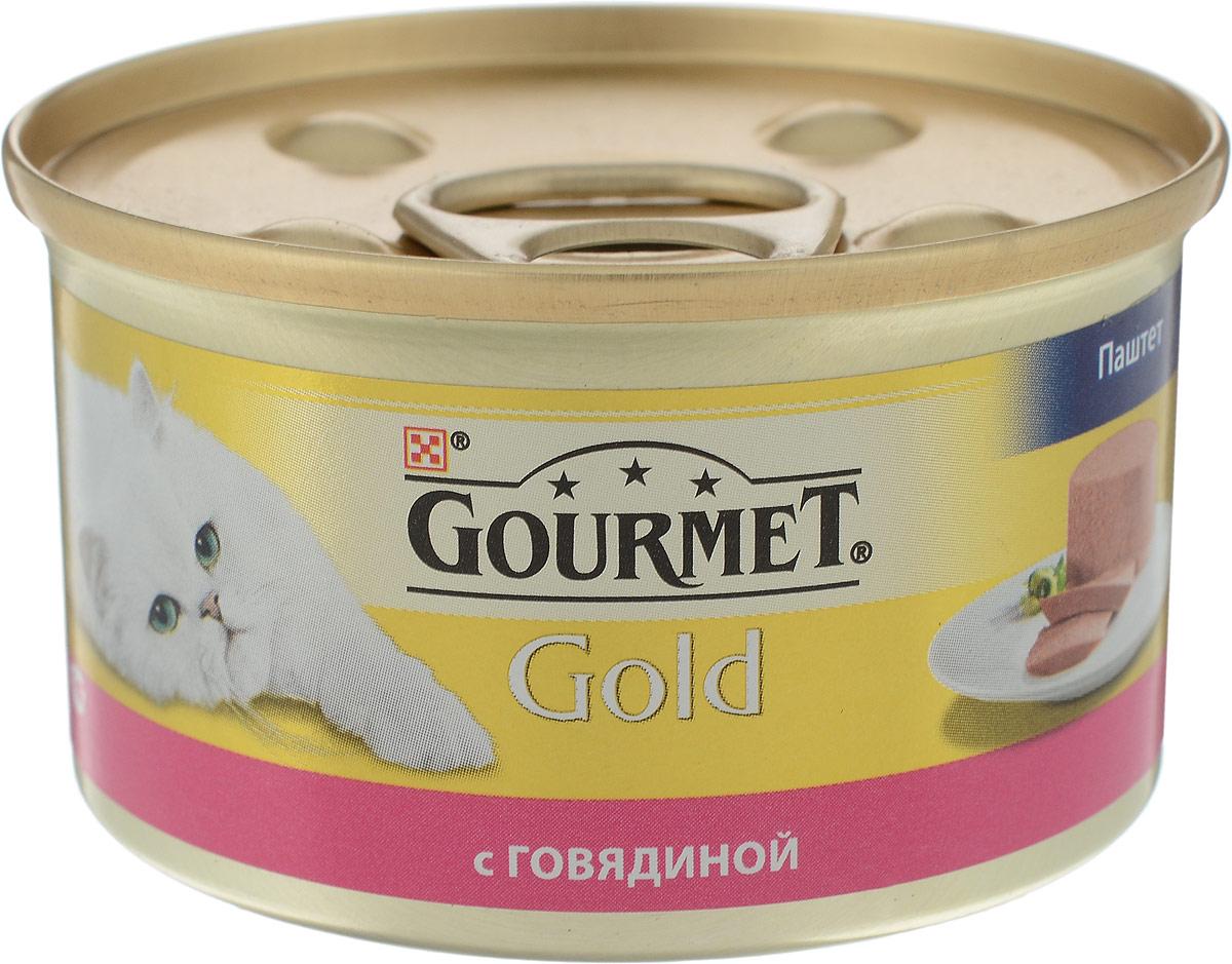 """Консервы для кошек Gourmet """"Gold"""", паштет с говядиной, 85 г"""
