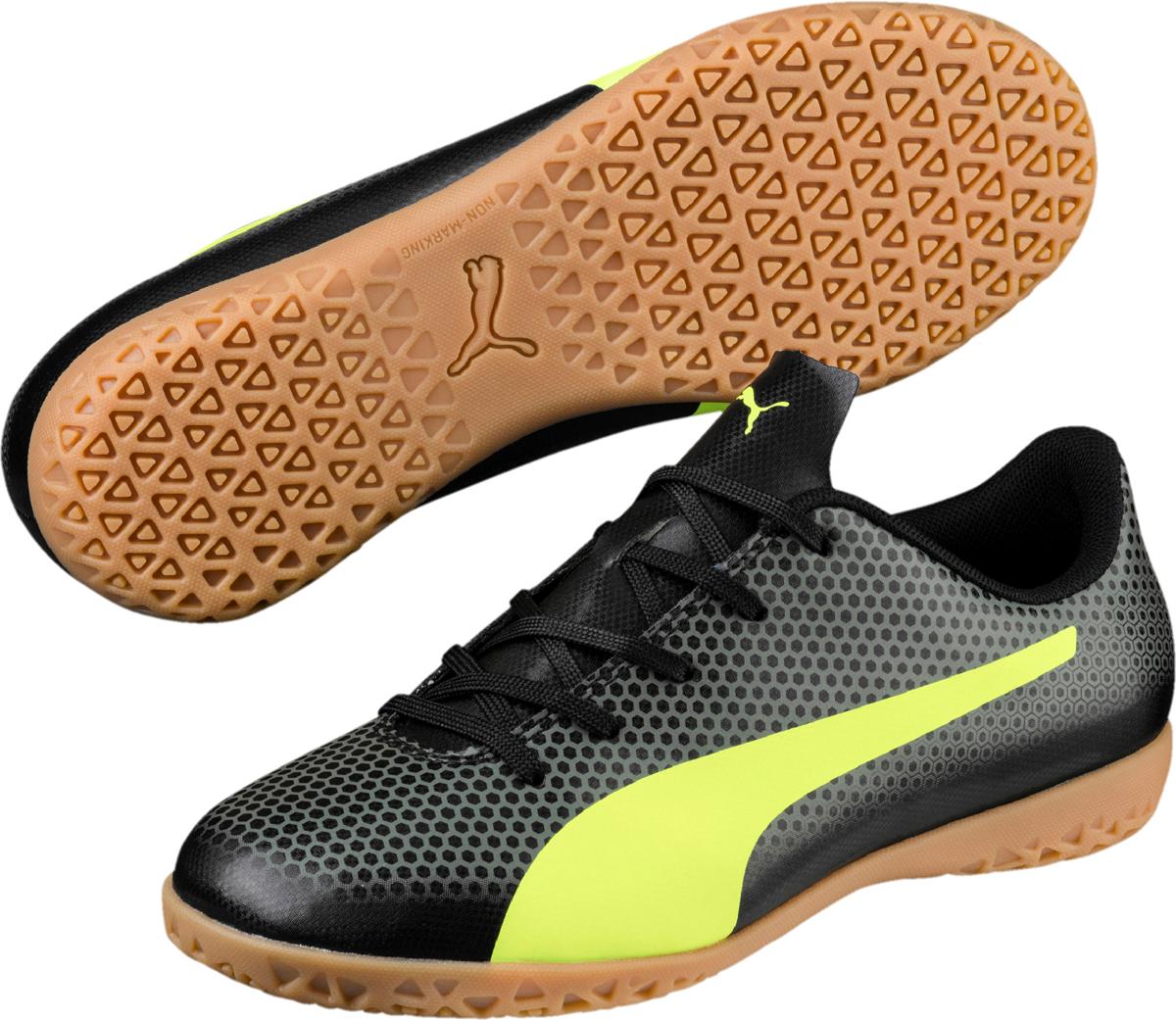 Бутсы Puma Spirit сочетают в себе передовые технологии и запоминающийся стиль популярных линеек футбольной обуви Puma. Модель Puma Spirit отличается легкостью, удобством и долговечностью в носке за счет использования мягкого и в то же время износостойкого синтетического материала верха. Благодаря мягкой подкладке бутсы отлично сидят по ноге.