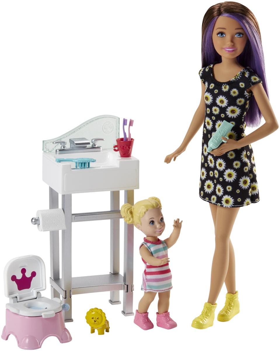 Barbie Игровой набор с куклой Няня FHY97_FJB01 кукла barbie космические приключения с летающим котом попкорном 29 см