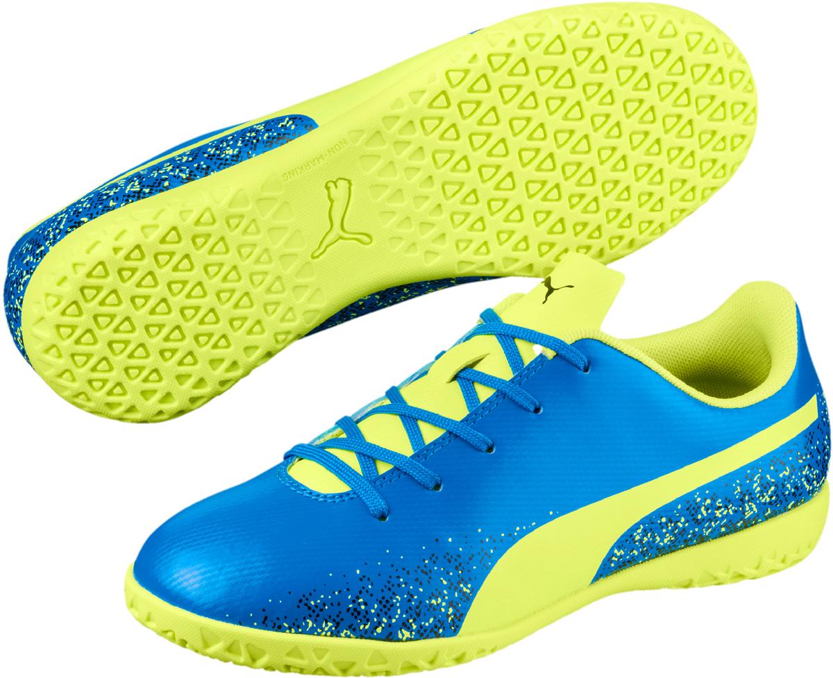 Бутсы детские Puma Truora IT Jr, цвет: голубой. 10462107. Размер 2,5 (34)