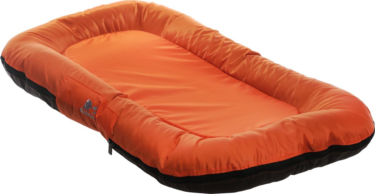Лежак для собак GLG Ортопедический, со съемным чехлом, цвет: оранжевый, коричневый, 100 x 75 x 15 см ортопедический матрас в краснодаре