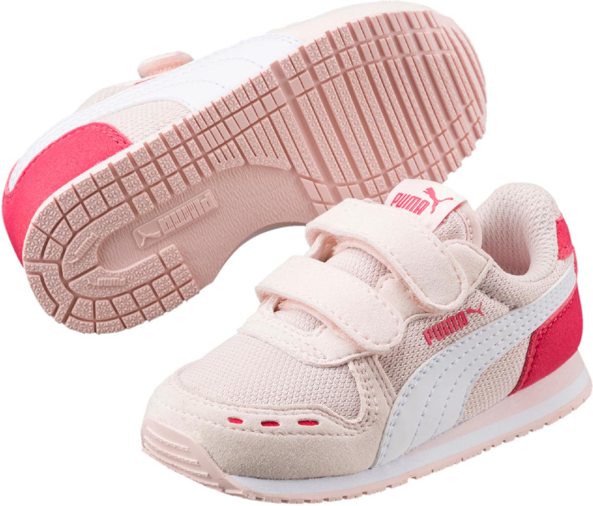 Кроссовки для девочки Puma Cabana Racer Mesh V PS, цвет: светло-розовый. 36024530. Размер 2,5 (34) puma кроссовки drift cat 5 l bmw nu v ps