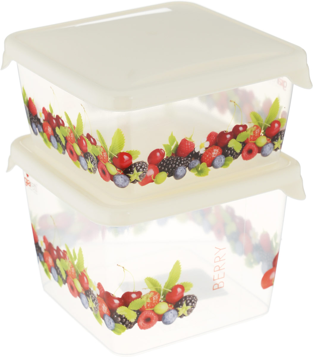 Комплект емкостей для продуктов Giaretti Браво, 2 предметаGR1071МИКСКомплект емкостей для продуктов Giaretti Браво - яркие, декорированные емкости для хранения и переноски продуктов. В них удобнозамораживать ягоды, овощи, фрукты небольшими порциями, хранить специи, сладости, чай и другие продукты.