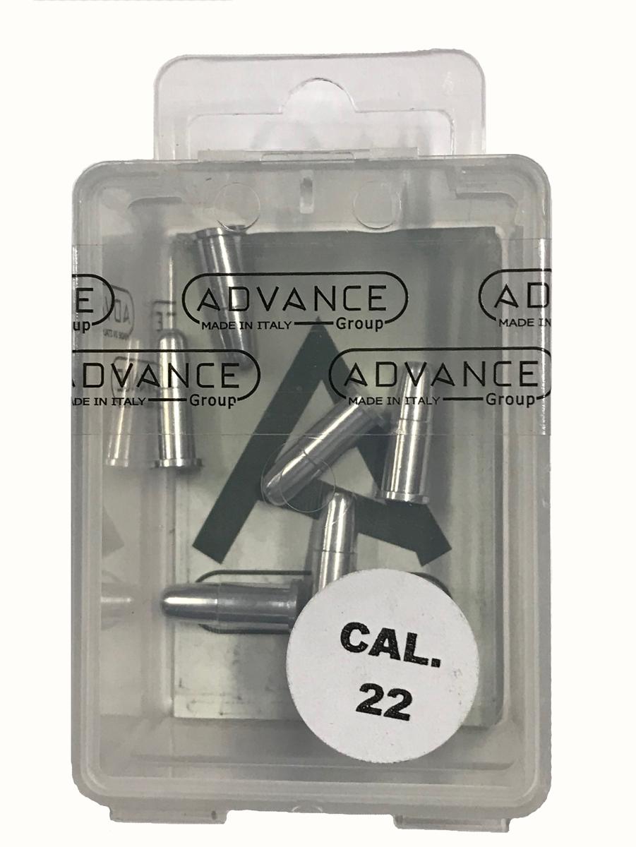 Фальш-патрон Nimar, калибр 22, алюминиевый, 20 шт asg фальш патроны 6 мм для револьверов dan wesson 12 шт 17606
