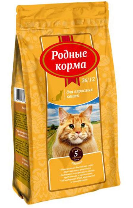 Корм сухой Родные Корма, для взрослых кошек, курица, 2,045 кг66384Ингредиенты: обезвоженное мясо птицы 26%, пшеница, кукуруза, жир куриный, пшеничные волокна, печень гидролизованная, дрожжи, пробиотический комплекс Bacillus subtillis, Bacillus licheniformis, морковь сушенная, лизин, DL-метионин, минеральные вещества, антиоксиданты, комплекс витаминов, таурин.Гарантируемые показатели питательной ценности:Протеин — 26%, жиры – 12%, зола – 6,5%, клетчатка – 3%, кальций — 1,4%, фосфор – 0,9%, влажность не более — 10%, витамины: А – 10 000 МЕ/кг, Д3 — 900 МЕ/кг, Е — 100 мг/кг. Энергетическая ценность: 3720 ккал/кг. Рекомендации по применению: корм подается в сухом виде или размоченный в теплой воде. У животного всегда должен быть доступ к свежей питьевой воде. Корм следует вводить в рацион постепенно в течение 7-10 дней. Рекомендуемое количество сухого корма в день, г. Вес взрослого животного, кг Норма кормления ,г. 1-2 38-58 2-3 55-75 4-5 95-115 6-7 125-145 8-10 155-175 Рекомендуемое количество корма в день является ориентировочным и может меняться в зависимости от индивидуальных особенностей животного, времени года и физической активности. Условия хранения: хранить в сухом месте при температуре 0 +35С и относительной влажности воздуха не более 75% . Беречь от солнечных лучей и влаги.Срок годности: 18 месяцев с даты выработки.Корм не содержит искусственных красителей, ароматизаторов, ГМИ. ГОСТ Р 55453-2013Произведено:ООО «Лимкорм»309290, Белгородская обл, г. ШебекиноРжевское шоссе 29А.Знаки на упаковку: РСТ, пелтя мебиуса, беречь от влаги и солнечных лучей.