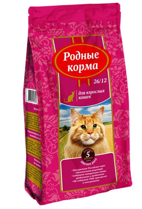 """Корм сухой """"Родные Корма"""", для взрослых кошек, мясное рагу, 2,045 кг"""