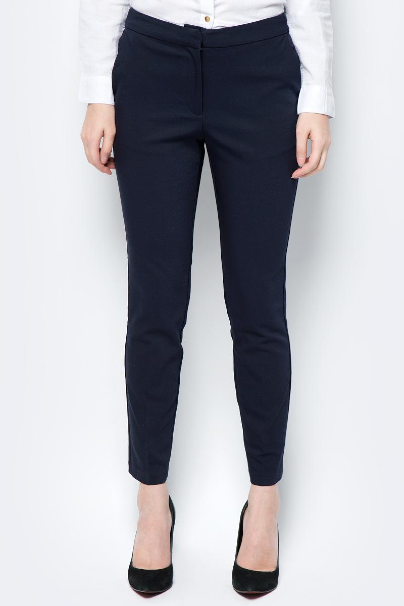 Брюки женские Sela, цвет: темно-синий. P-115/167-8132. Размер 48 брюки женские sela цвет темно синий p 115 201 8122 размер 48