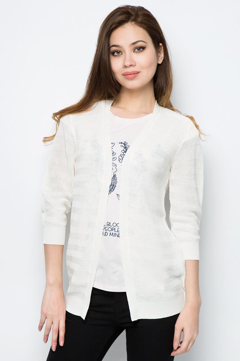 Кардиган женский Sela, цвет: слоновая кость. CN-114/679-8132. Размер XS (42)
