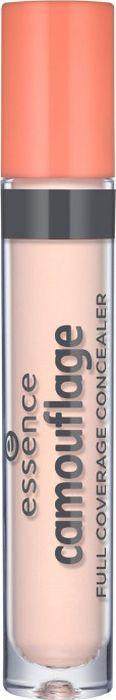 Essence Консилер Camouflage full coverage concealer ivory, бежевый т.05, 5 г21983Стойкий высокопигментированный консилер с жидкой кремовой текстурой надежно замаскирует темные круги под глазами и другие несовершенства кожи. Бодрый и свежий вид теперь гарантирован!