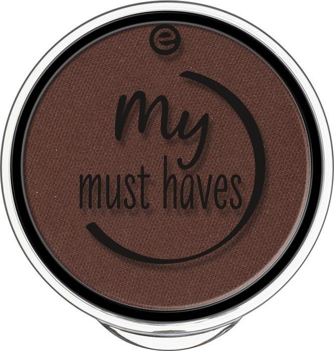 Essence Тени для век My must haves eyeshadow brownielicious, горький шоколад т.04, 1,7 г22174Благодаря шелковистой пудровой текстуре тени легко растушевываются, а их потрясающая пигментация уж точно не оставит тебя равнодушной!