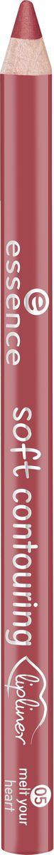 Essence Контур для губ soft contouring lipliner melt your heart, коричнево-красный т.05, 1,2 г