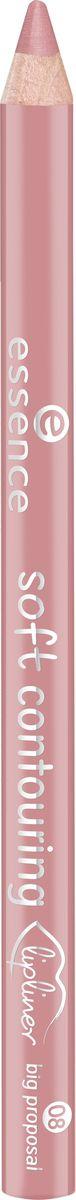 Essence Контур для губ soft contouring lipliner big proposal, кремово-розовый т.08, 1,2 г