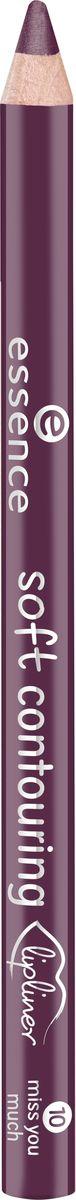 Essence Контур для губ soft contouring lipliner miss you much, темно-пурпурный т.10, 1,2 г
