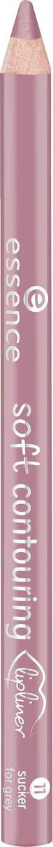Essence Контур для губ soft contouring lipliner sucker for grey, розовато-лиловый т.11, 1,2 г