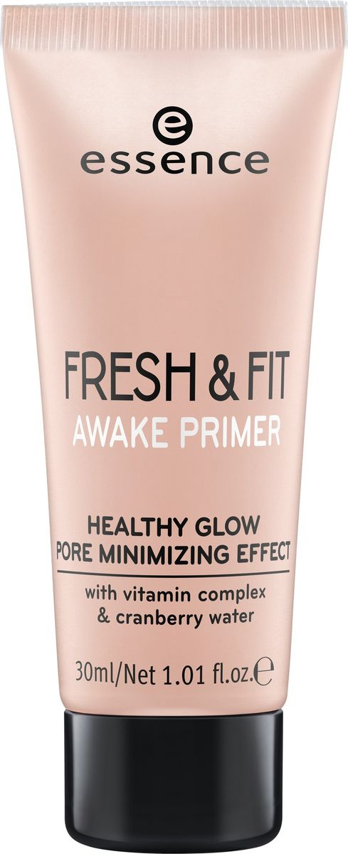 Essence Праймер для тональной основы fresh & fit awake primer, 30 мл225811Легкая текстура со светоотражающими частичками освежает кожу, выравнивает цвет лица и продлевает стойкость макияжа. Праймер можно использовать как основу под тональное средство, так и как самостоятельный продукт. Содержит витамины и гидролат клюквы.