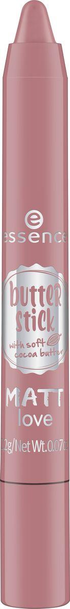 Essence Губная помада в стике butter stick matt love rose whip, терракотовый т.01, 2,2 г225915Помада в стике, насыщенная маслом какао, с нежнейшей тающей текстурой и бархатным финишем.