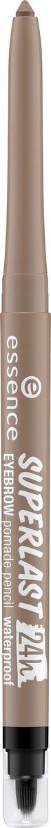 Essence Карандаш для бровей superlast 24h eyebrow pomade pencil waterproof blonde, темно-коричневый т.10, 0,31 г226202Стойкая помада для бровей с мягкой кремовой текстурой. Продукт в формате выкручивающегося карандаша дополнен точилкой и силиконовой кисточкой.