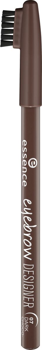 Essence Карандаш для бровей eyebrow designer dark chocolate, темный шоколад т.07, 1 г226208Подчеркнет линию бровей и делает их более выразительными. Удобная щеточка на колпачке позволяет смоделировать непослушные брови, а также растушевать контур, чтобы сделать линию более естественной. Великолепно сохраняется в течении всего дня.