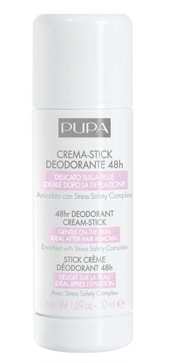 Pupa Дезодорирующий крем-стик Cream-Stick Deodorant 48ч, 50 мл0TE036A001Нежный на коже, идеален для применения после депиляции. Предотвращает появление неприятного запаха, регулирует потоотделение, при этом мягко воздействует на кожу подмышек. Идеально и для использования в стрессовых ситуациях. Форма стика с мягкой кремовой формулой.