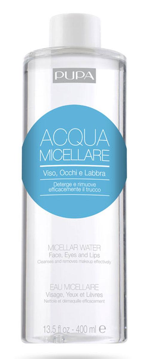 Pupa Мицеллярная вода Micellar Water, 400 мл2T1N15A001Идеально удаляет макияж с лица, глаз и губ, обладает успокаивающим эффектом благодаря свойствам воды Гамамелиса. Подходит всех типов кожи.