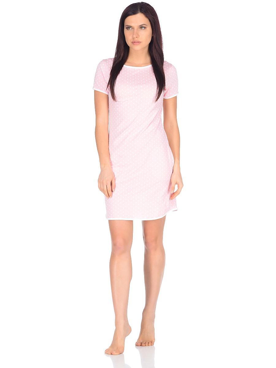 Платье домашнее женское Letto, цвет: розовый. TFdm001. Размер 48TFdm001Домашнее слегка приталенное платье от Letto с двумя боковыми карманами и коротким рукавом. Отлично подойдет для повседневного использования дома или на даче.