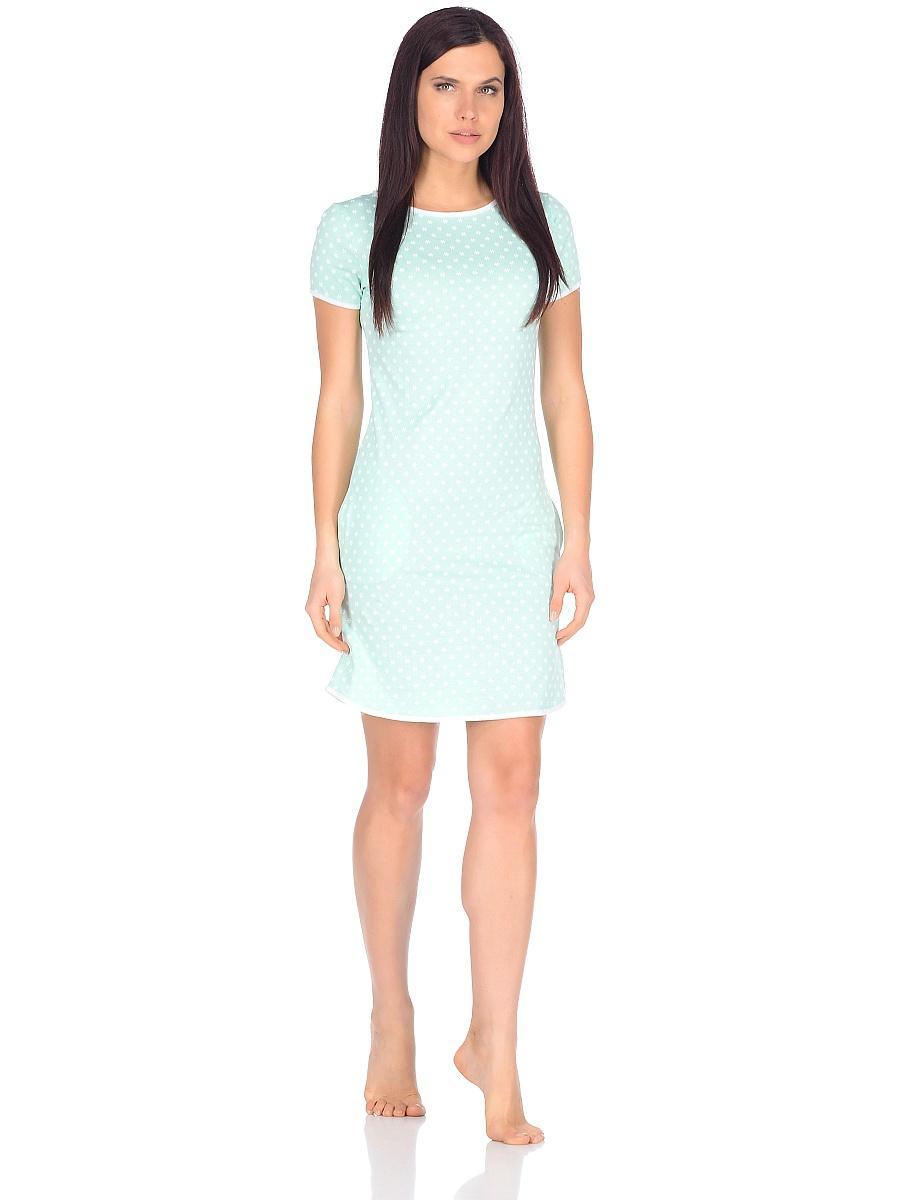 Платье домашнее женское Letto, цвет: зеленый. TFdm005. Размер 50TFdm005Домашнее слегка приталенное платье от Letto с двумя боковыми карманами и коротким рукавом. Отлично подойдет для повседневного использования дома или на даче.