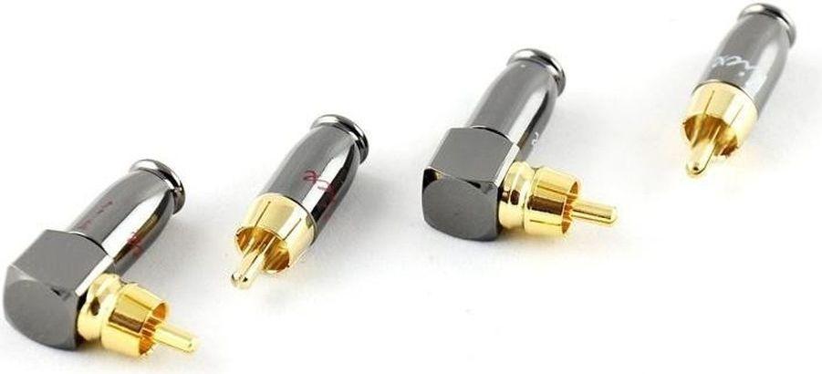 Kicx DRCA-4SA, Silver Gold комплект коннекторов (4 шт.)DRCA-4SAКомплект из 2-х прямых и 2-х угловых металлических RCA коннекторов в упаковке, наконечники с никилерованным покрытием, диаметр под RCAкабель до 9мм