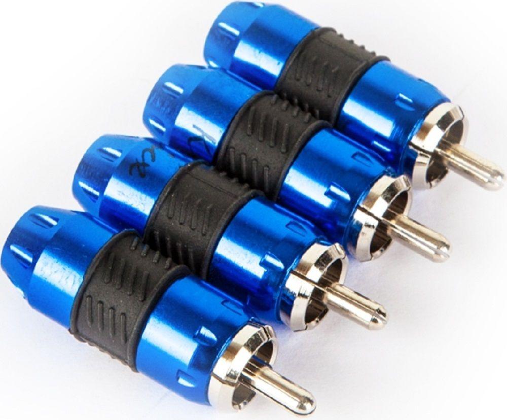 Kicx RCA-4BL комплект RCA коннекторов (4 шт.) kicx kap 27