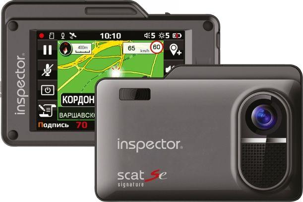 Inspector SCAT SE радар-детектор с видеорегистраторомSCAT SEРадар-детектор Inspector SCAT SE Видеорегистратор GPS приемник G-сенсор черный
