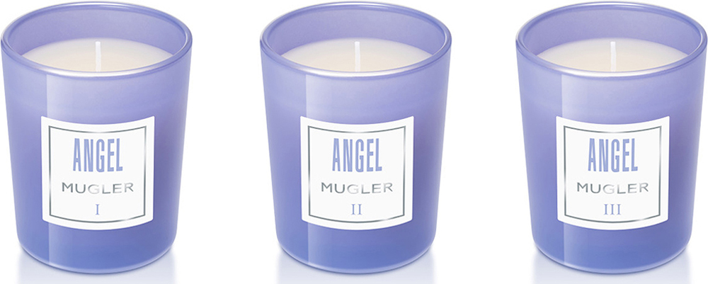 Mugler Набор свечей Angel, 3 x 70 г80028798Дом Mugler переосмыслил жанр ароматов для дома в коллекции парфюмерных мини-свечей. Три свечи в наборе, каждая из которых раскрывает одну грань легендарного аромата Angel:I - Небесная грань: для нежных и трепетных моментовII - Гурманская грань: для моментов истинного наслажденияIII - Чувственная грань: для искренних и страстных моментовСвечи Angel превратят дом в роскошный будуар, закрутят Вас в водоворот эмоций и чувственности.Cостав набора: 3 свечи х 70 гр