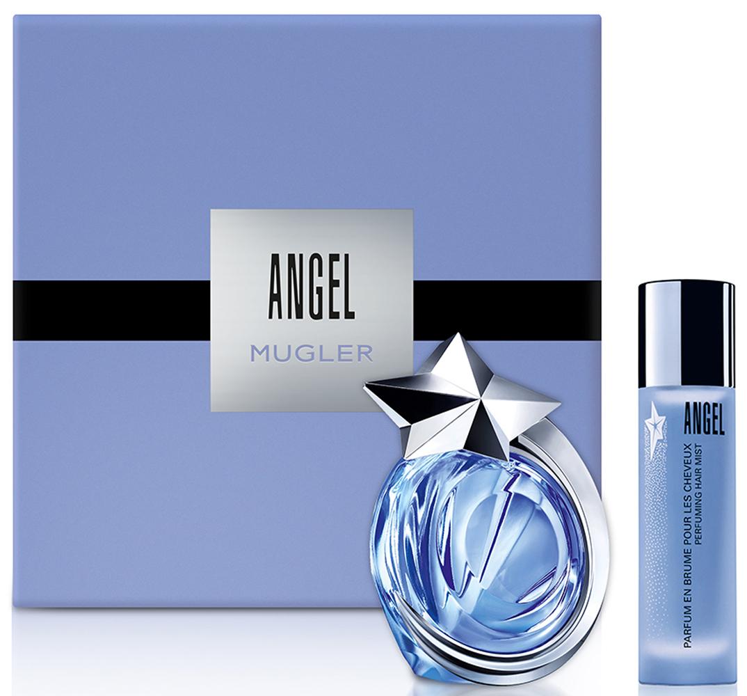 Mugler Набор Angel: Туалетная вода 40 мл, Парфюмерная дымка для волос, 30 мл mugler набор angel парфюмерная вода 50 мл крем для тела 200 мл