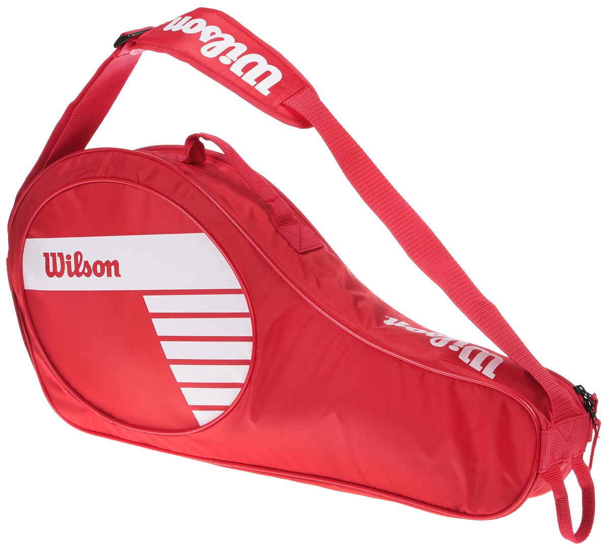 Рюкзак для теннисных ракеток Wilson Junior 3 Pack RdwhWRZ647803Детская сумка, вмещает до 3-х ракет + просторный карман для аксессуаров.