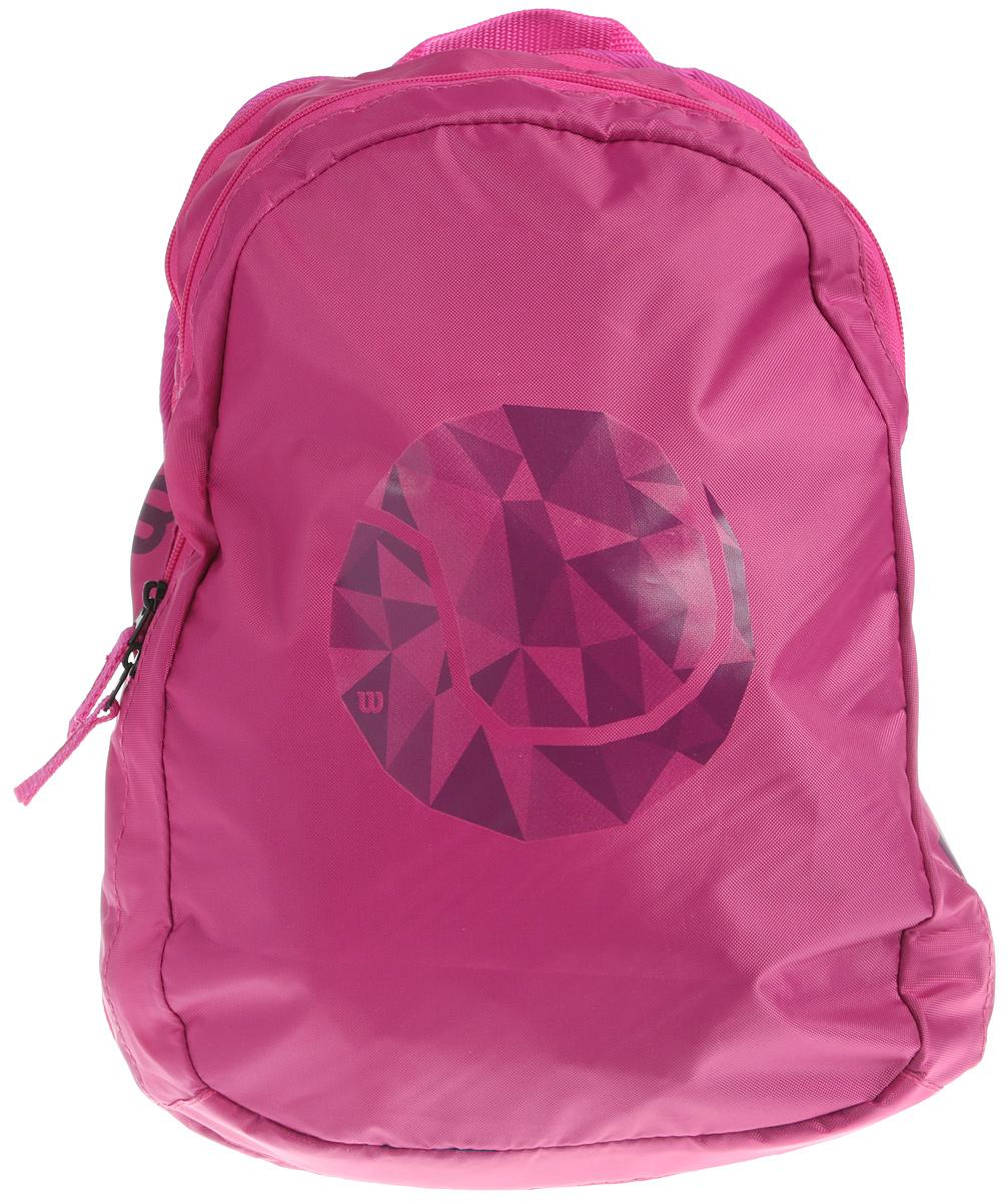 Рюкзак для теннисных ракеток Wilson Junior Backpack PkWRZ641895Детский рюкзак, идеально вмещает 2 ракеты и все необходимое для тренировки.