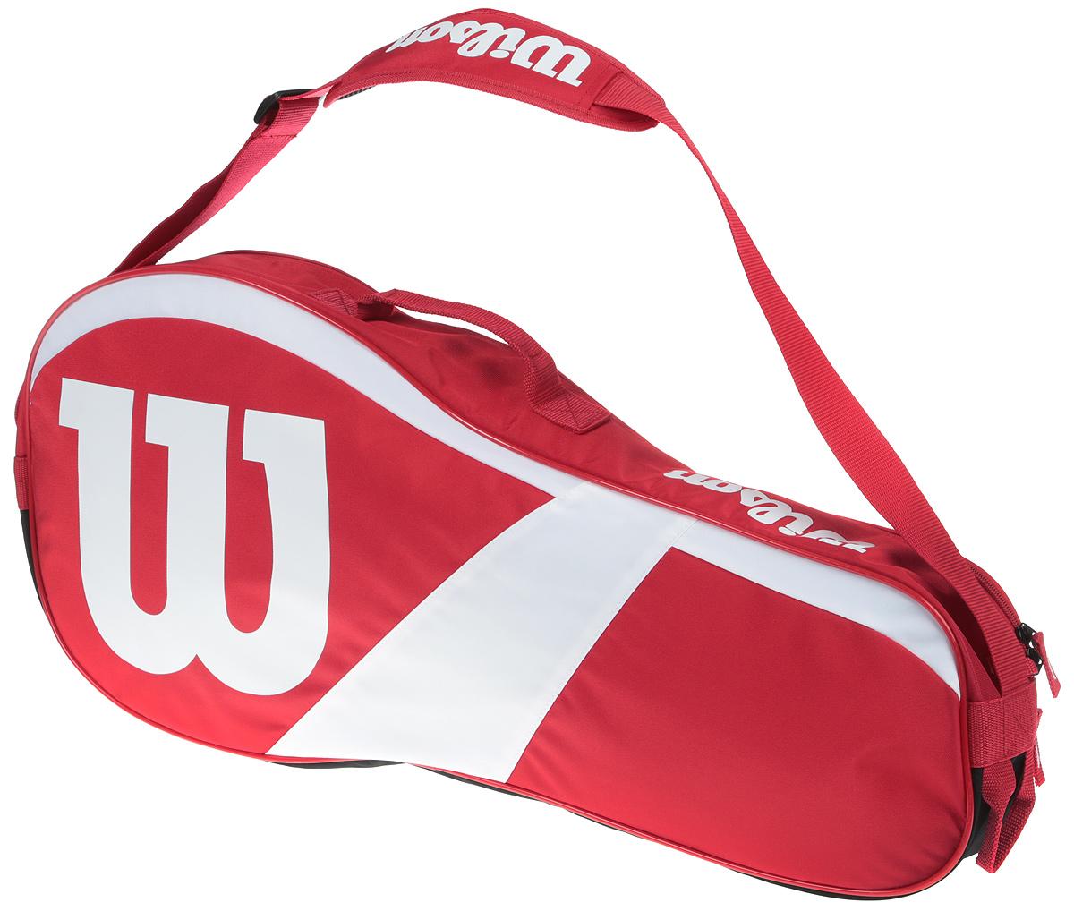 Сумка для теннисных ракеток Wilson Match Iii 3 Pack RdwhWRZ827803Надежная и прочная сумка коллеции Match Collection, вмещающая 3 ракетки детской и коммерческой серии, идеальна для игрока-любителя.