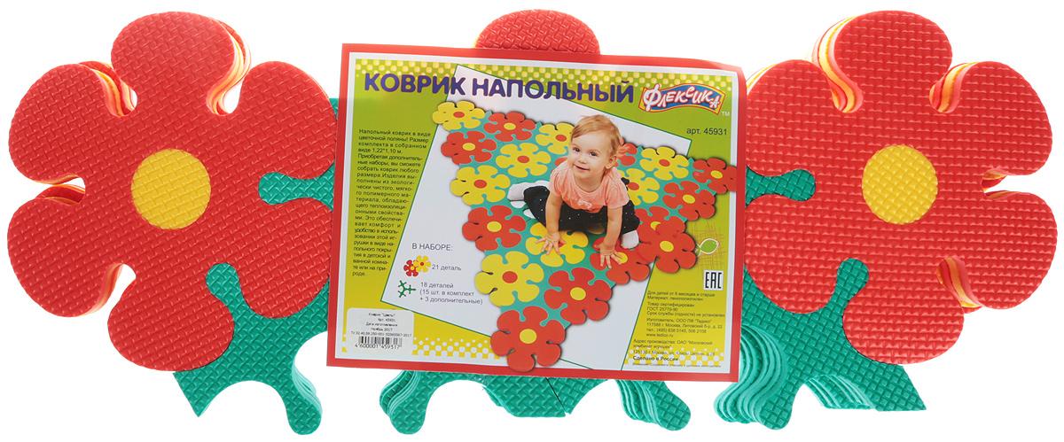Флексика Коврик-пазл Цветы флексика коврик пазл морской 6 деталей