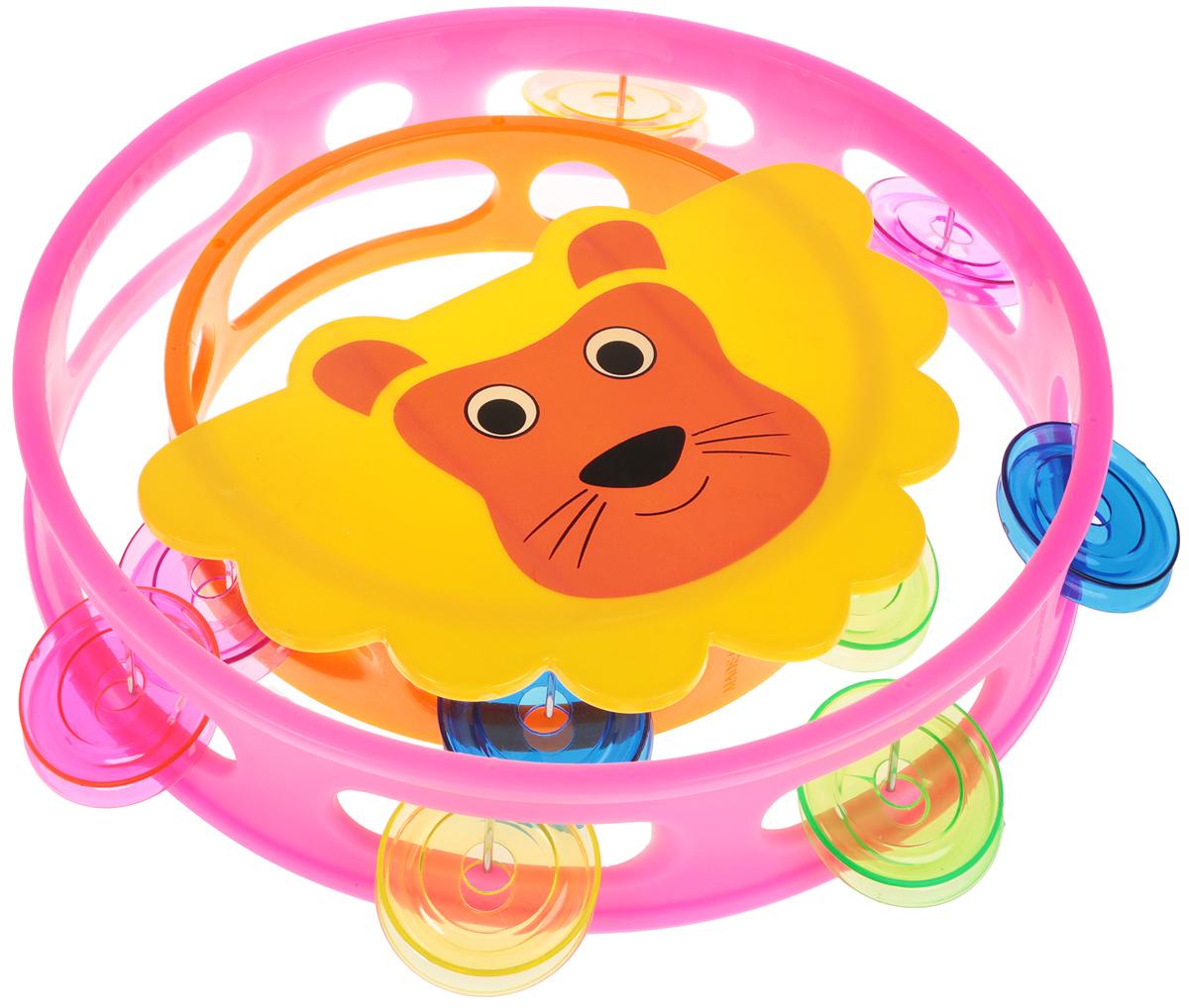 Shantou Gepai Набор бубнов Лев цвет розовый оранжевый 2 шт