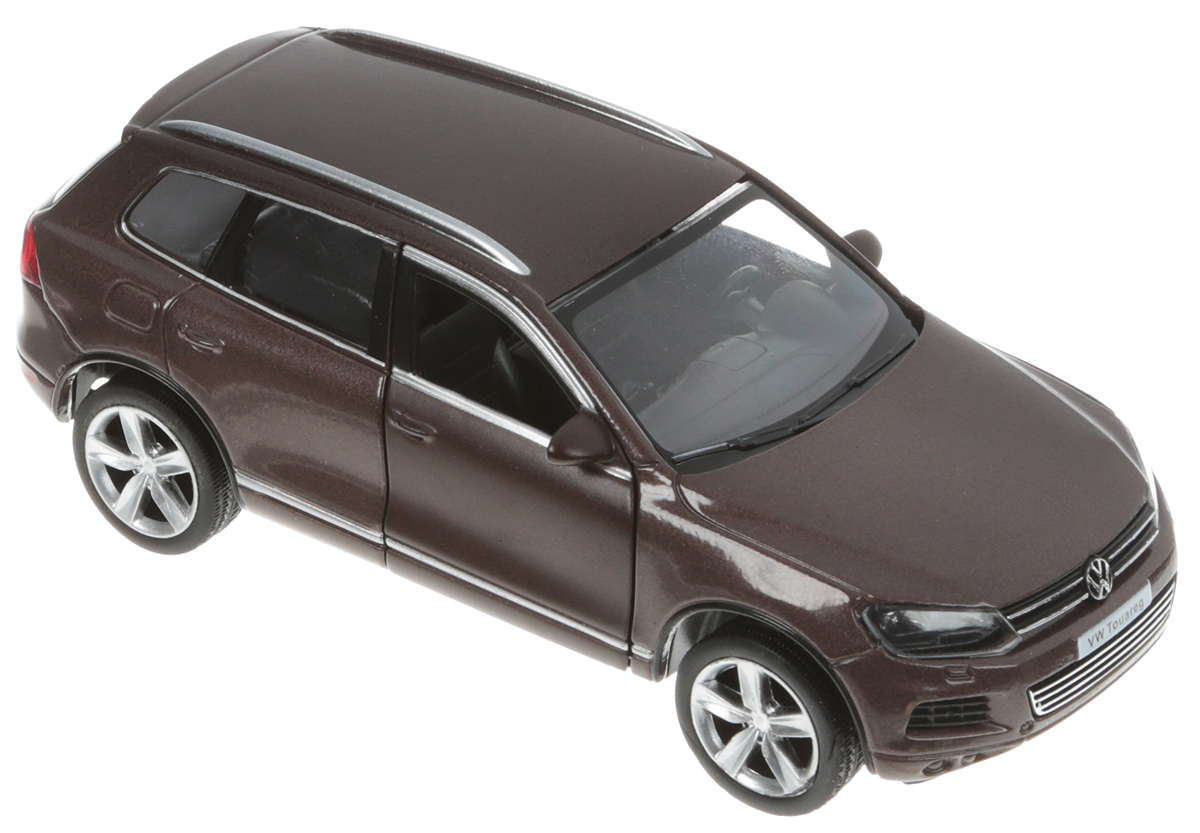 Autotime Модель автомобиля Volkswagen Touareg цвет коричневый bburago модель автомобиля volkswagen touareg цвет синий масштаб 1 18