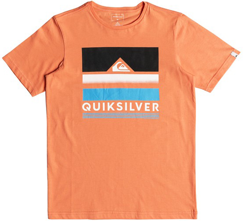 Футболка для мальчика Quiksilver, цвет: оранжевый. EQBZT03681-NHJ0. Размер 146/152EQBZT03681-NHJ0