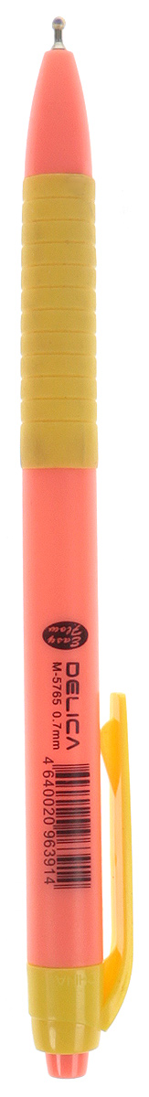 Mazari Ручка шариковая Delica цвет желтый оранжевыйМ-5765_желтый, оранжевыйРучка шариковая автоматическая Delica, серия Easy Flow, чернила на масляной основе (Германия), пулевидный пишущий узел 0.7мм (Швейцария), корпус пластиковый цветной