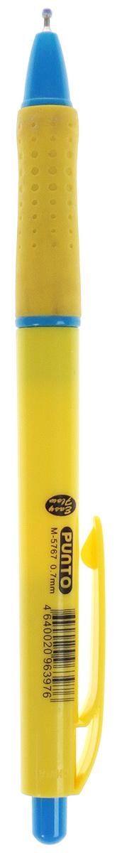 Mazari Ручка шариковая Punto цвет желтыйМ-5767_желтыйРучка шариковая автоматическая Punto, серия Easy Flow, чернила на масляной основе (Германия), пулевидный пишущий узел 0.7мм (Швейцария), корпус пластиковый цветной