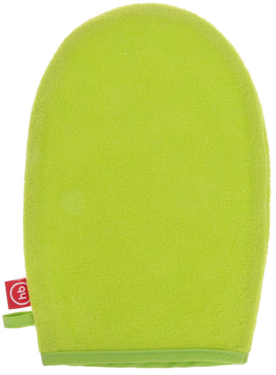 Happy Baby Мочалка-рукавица Wash&Bath цвет салатовый мочалка рукавица для лица riffi цвет голубой