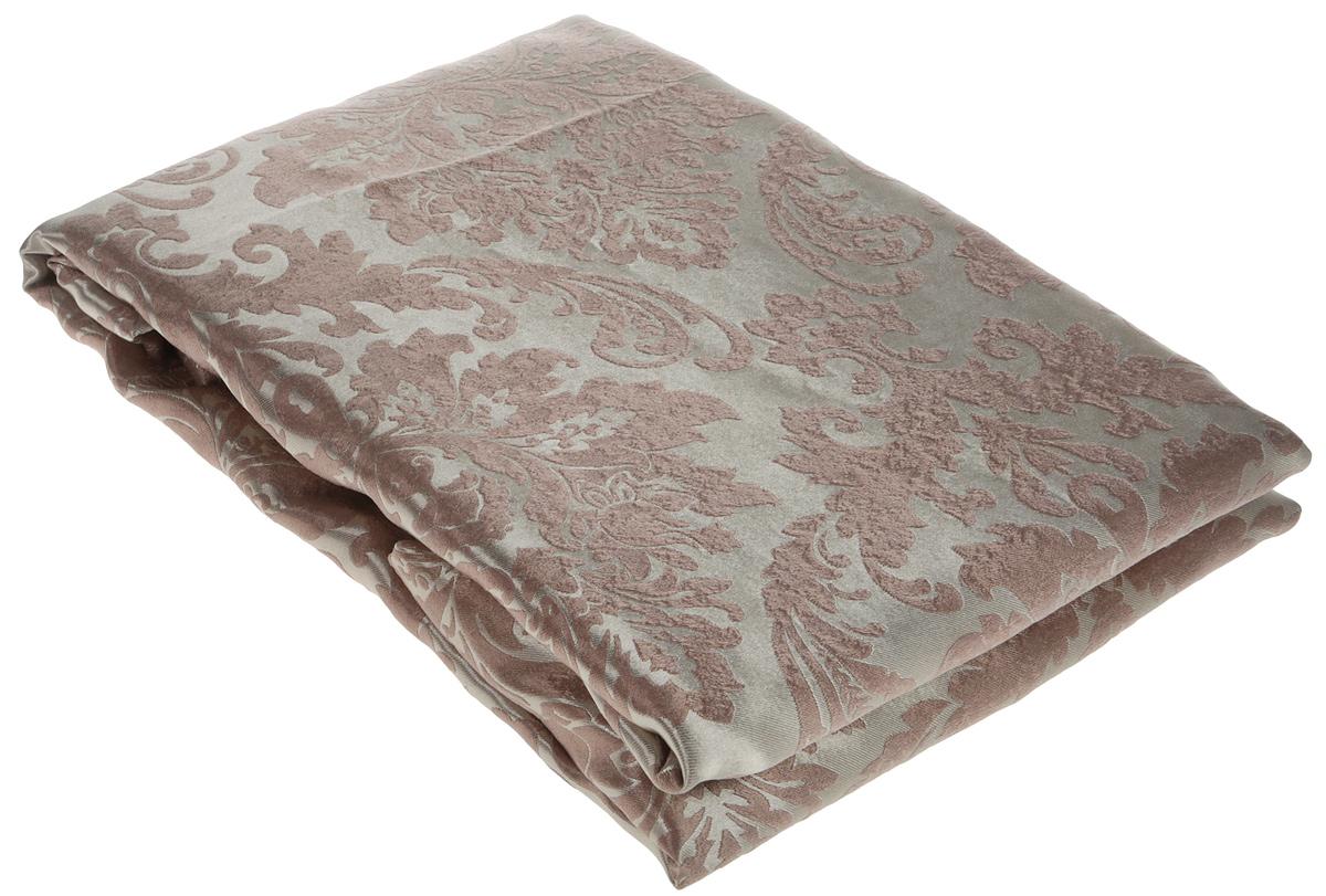 """Портьера """"Amore Mio"""" -  гладкая, мягкая ткань с деликатным сатиновым блеском. Эти портьеры будут идеальным решением для домашнего кинотеатра и спальни. Изготовлены из  100% полиэстера. Полиэстер - вид ткани, состоящий из полиэфирных волокон. Ткани из полиэстера легкие,  прочные и износостойкие. Такие изделия не требуют специального ухода, не пылятся и почти не мнутся. Крепление к карнизу осуществляется при помощи вшитой шторной ленты."""