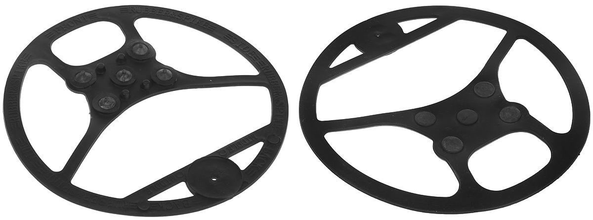 Ледоступы Практика Здоровья Антигололед, цвет: черный. ANTR5. Размер M (36/43)ANTR5Ледоступы Практика Здоровья Подкова, выполненные из высококачественной резины. Имеют 5 металлических шипов.-5 металлических шипов по 5 мм, - компактная и легкая насадка -имеет круглую форму, надевается на пятку и носок -улучшенная фиксация на обуви Защищает от : наледи, гололеда, облегчает ходьбу по скользким поверхностям